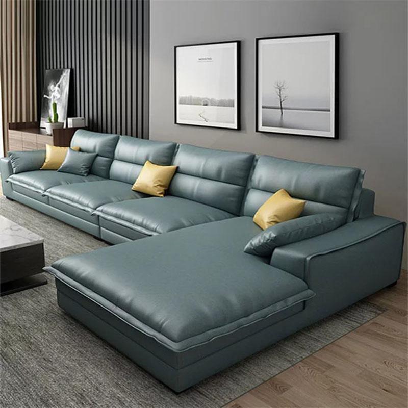 Sofa góc chữ L bọc da cao cấp sang trọng SF862
